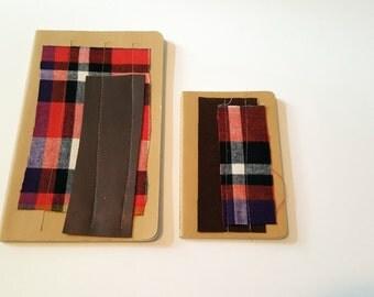 Set of two embellished Moleskine Cahier journals