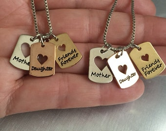 "Mother daughter friends forever 2 sets of 18"" necklace set"