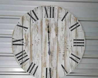 "42in ""classic"" farmhouse wall clock - Oversized wall clock - large clock - big clock - farmhouse decor - free shipping"