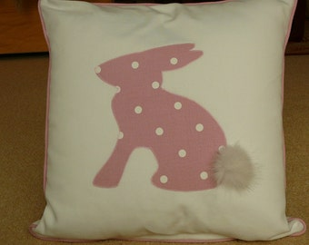 bunny cushions with furry tails