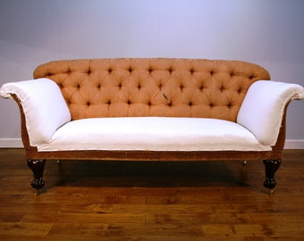 SOLD....Superb, Victorian, Rosewood Chesterfield sofa for re upholstery.