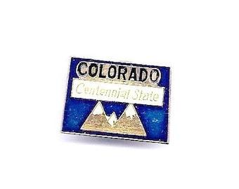 Vintage Colorada Centennial State Hat/Lapel Pin