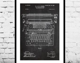Typewriting Machine Patent, Typewriting Machine Poster, Typewriter Blueprint,  Typewriter Print, Typewriter Art, Typewriter Decor