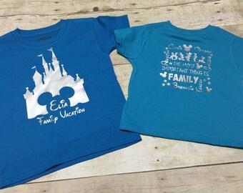 disney family vacation shirt, mickey shirt, disney shirt, castle shirt, magic kingdom, cinderella castle shirt