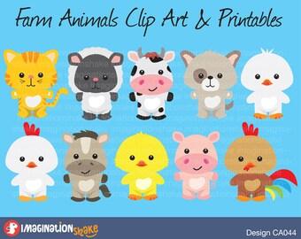 Baby Farm Animals Clip Art animal clip art | etsy