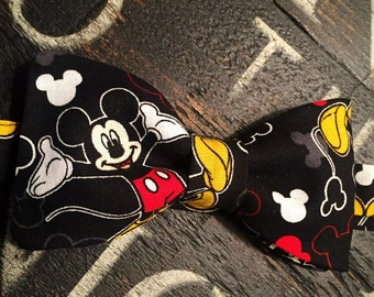 Mickey Mouse Bow Tie, Mickey Bow Tie, Pre-Tied or Self-Tie, Adjustable neckband