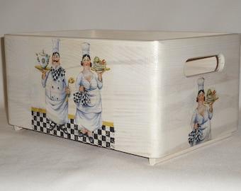 Vintage wooden crate chefs nostalgia