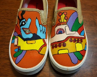 The Beatles Yellow Submarine hand painted shoes
