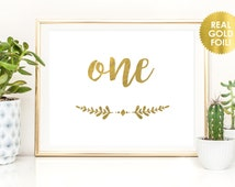 Gold Foil Wedding Table Numbers / REAL GOLD FOIL Wedding Table Numbers / Custom Table Signs / Custom Quantities Available / Peony Theme