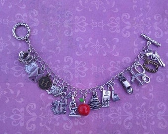 Detective theme charm bracelet, Crime solving, mystery, choose your charms, custom sizes available
