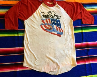 Beach Boys 1981-82 USA Tour 3/4 length T-shirt