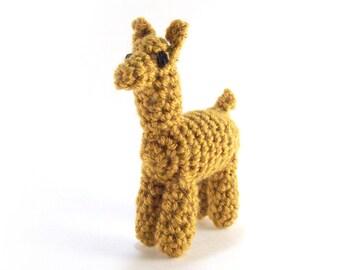Crochet Llama Plush Stuffed Animal Kawaii Amigurumi