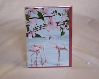 Flamingoes Card