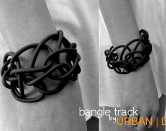 Bracelet Bangle Track, color Black