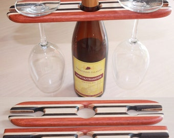 Striped wine display hook