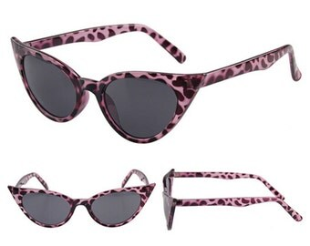 "50s ""Bettie"" sunglasses shades - Pin-up/VLV/Rockabilly/Psychobilly- Pink - Leopard Print"