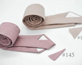 No#145,#139,matte mauve,rose smoke,cotton,vintage,rustic,neutral,nudeblush,wedding ties,groomsmen,men,neutral shabby chic nude mauve wedding