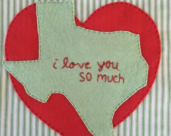 "Austin, TX Pillow ""I love you so much"" graffiti"