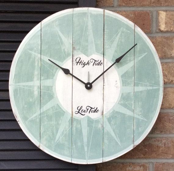 Tide Clock Beach Clock Wall Clock Nautical Wall Clock