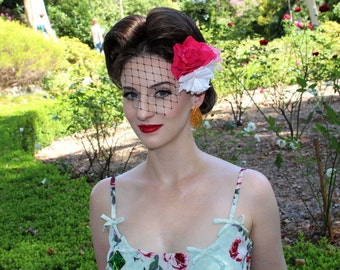Miss Victoria Rose fascinator Double