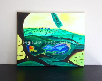 Dragon land original painting