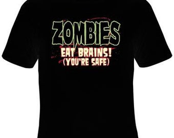 t-shirts : zombies eat brains
