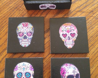 Day Of The Dead Ceramic Coasters