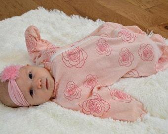 Enclosed Zip-Up Cozy Baby Sleeper: Rosie