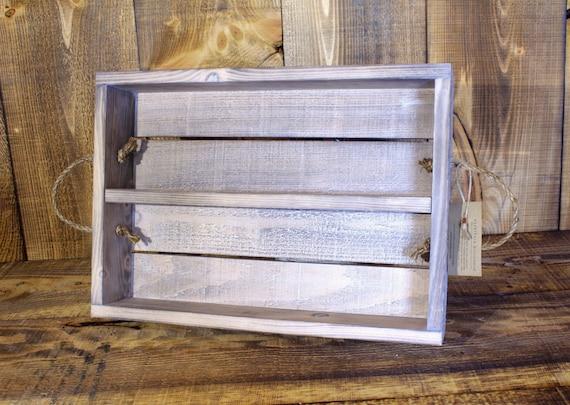 White Washed Handmade Spice Rack --- Flintface Woodshop