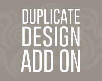 Duplicate Design Add On for Any Mug or Water Bottle