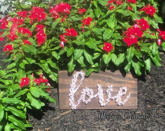 Love String Art Sign | MADE TO ORDER