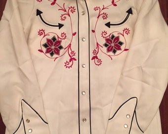 Vintage H Bar C/Womens/Nashville/Embroidered/Western shirt/Size36/Medium