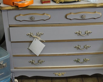1960s French Provincial styled chest of drawers