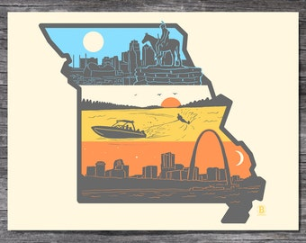Layers of Missouri Screen Printed Poster