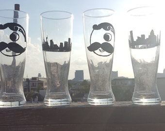 Set of 4 Baltimore  Beer Glasses
