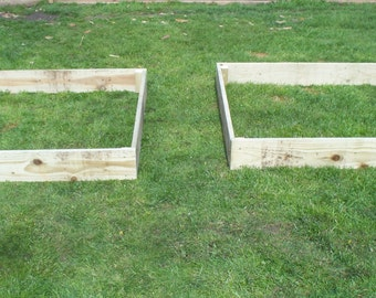 2 x 15cm high Tanalised wood Vegetable raised bed, herb planter, garden border