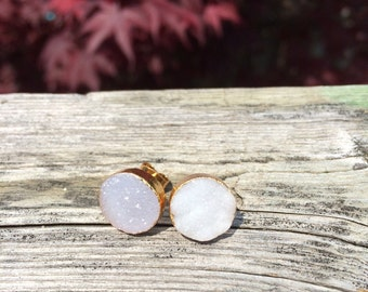 Gorgeous Sparkling Circle Stud Earrings 12mm