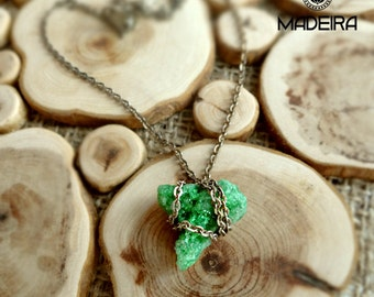 Pendant from druse agate green