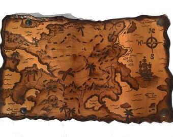 Pirate map tobacco bag