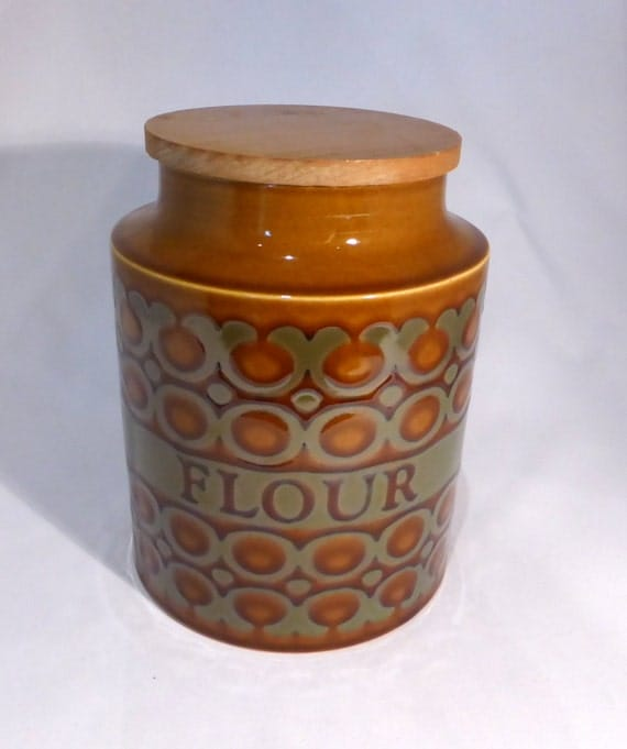 Hornsea Bronte Flour Storage Jar Original From The 1970s