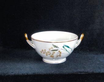 Heinrich & Co Porcelain Twist Handled Bowl in the Sommer Pattern