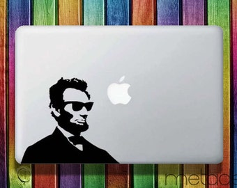 "Abraham Lincoln Macbook Sticker Decal  11"", 13"" and 15"" -  laptop stickers, macbook stickers, macbook decals, macbook sticker"