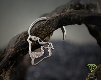 SKULL EARRINGS, Sterling silver earrings,