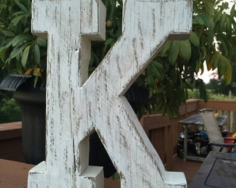 Rustic Distressed Wooden Letters