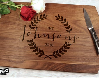 Personalized cutting board-26, Engraved cutting board,Personalized wedding gift,wedding gift for couples, housewarming gift, engagement gift