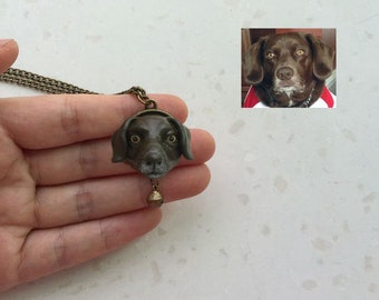 custom pet portrait ,pet memorial necklace, pet loss gifts,pet accesories,pet item