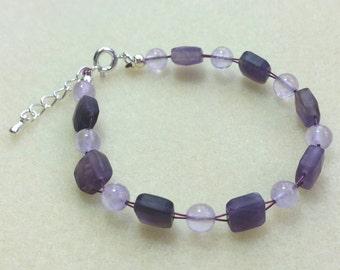 Amethyst Gemstone Bracelet