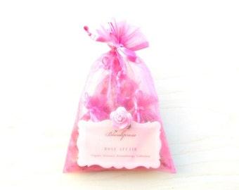 Rose Affair • True Love • Organic Damask Rose & Provence Rose Scented Sachets • Artisanal Aromatherapy • Botanical Bag + Drawer Freshener