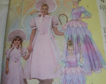McCall's Princess & Little Bo Peep Costume, Sewing Pattern, Girl's Sizes 3-4, 5-6, and 7- 8