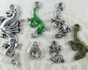 6-pack Sampler -  Dragon Charms, COL009